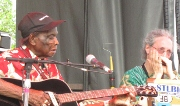 Edwards and Frank at 2010 Crossroads Guitar Festival